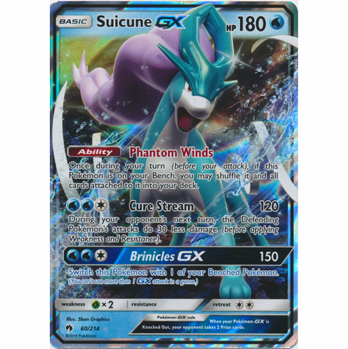 Suicune GX - 60/214 - Sun & Moon: Lost Thunder Ultra Rare
