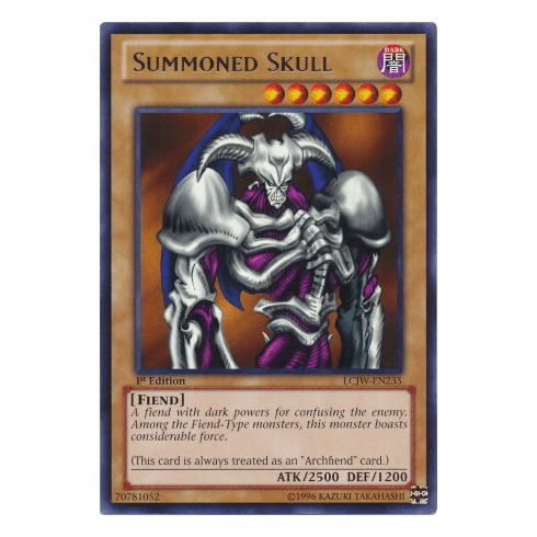 Summoned Skull LCJW-EN235 - YuGiOh Joey's World Rare Card