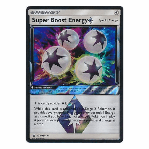 Super Boost Energy�Prism Star 136/156 Holo Rare - Pokemon Ultra Prism