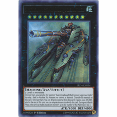 Superdreadnought Rail Cannon Juggernaut Liebe YuGiOh � Legendary Duelists: Sisters of the Rose Ultra Rare