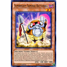 Superheavy Samurai Battleball CROS-EN008 Super Rare - YuGiOh Crossed Souls Card