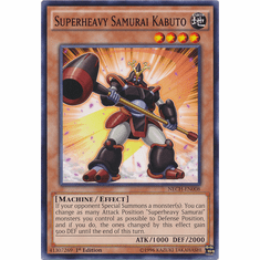 Superheavy Samurai Kabuto NECH-EN008 - Common The New Challengers Card