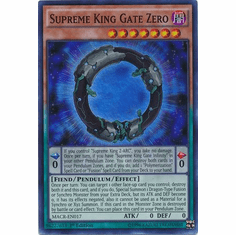 Supreme King Gate Zero MACR-EN017 Super Rare - YuGiOh Maximum Crisis Card