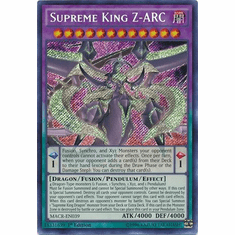 Supreme King Z-ARC MACR-EN039 Secret Rare - YuGiOh Maximum Crisis Card