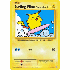 Surfing Pikachu 111/108 Secret Rare - Pokemon XY Evolutions Single Card