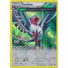 Swellow 72/108 Holo Rare - Pokemon XY Roaring Skies Card