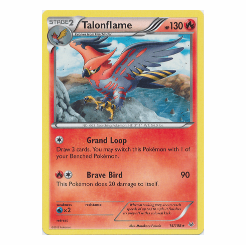 Talonflame 15/108 Rare - Pokemon XY Roaring Skies Card