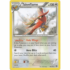 Talonflame 96/114 Rare - Pokemon XY Steam Siege Card