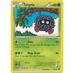 Tangela 1/114 Common - Pokemon XY Steam Siege Card