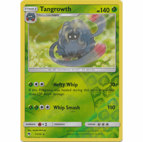 Tangrowth - 2/214 (Reverse Foil) Pokemon » SM Lost Thunder Rare