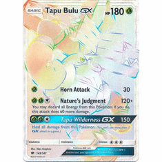 Tapu Bulu GX 149/147 Hyper Rare - Pokemon Sun & Moon Burning Shadows Card