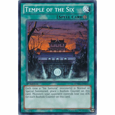 Temple of the Six SDWA-EN031 - YuGiOh Samurai Warlords Common Card