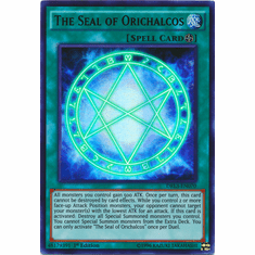 The Seal of Orichalcos DRL3-EN070 Ultra Rare - YuGiOh Dragons of Legend Unleashed Card