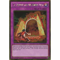The Traveler and the Burning Abyss PGL3-EN097 - YuGiOh Gold Rare Card