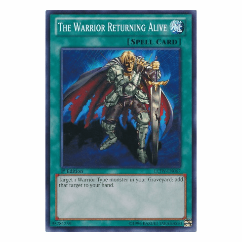 The Warrior Returning Alive LCJW-EN067 - YuGiOh Joey's World Common Card