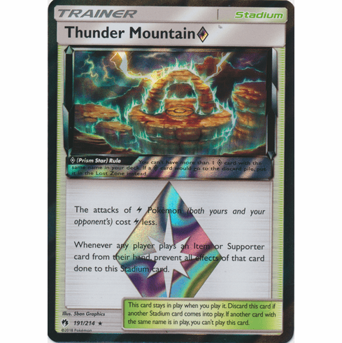 Thunder Mountain Prism Star - 191/214 Pokemon » SM Lost Thunder HR