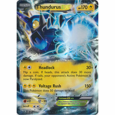 Thundurus EX 26/108 Ultra Rare - Pokemon XY Roaring Skies Card