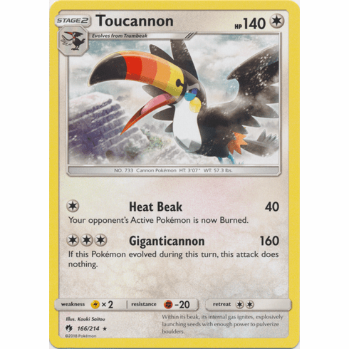 Toucannon - 166/214 Pokemon » SM Lost Thunder Rare