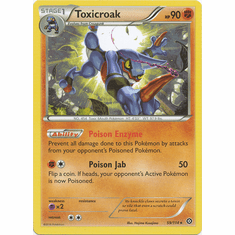 Toxicroak 59/114 Rare - Pokemon XY Steam Siege Card