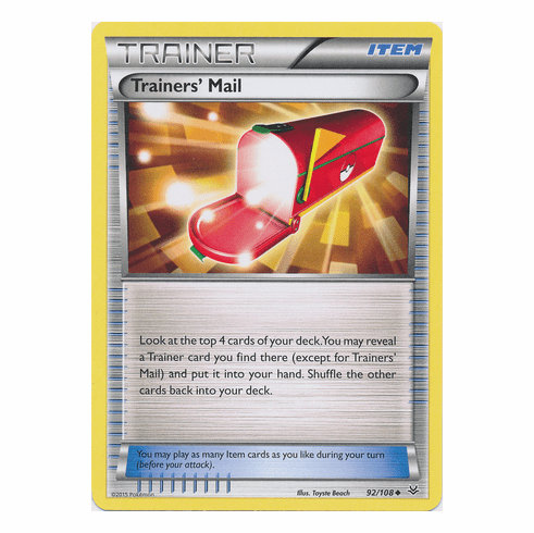 Trainers' Mail 92/108 Uncommon - Pokemon XY Roaring Skies Card