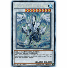 Trishula, Dragon of the Ice Barrier HSRD-EN052 Secret Rare - YuGiOh High Speed Riders Card