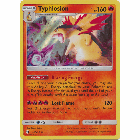 Typhlosion - 42/214 Pokemon » SM Lost Thunder HR