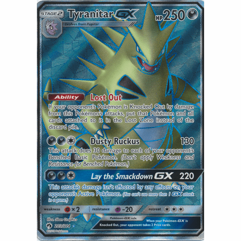 Tyranitar GX - 203/214 - Sun & Moon: Lost Thunder Full Art Ultra Rare