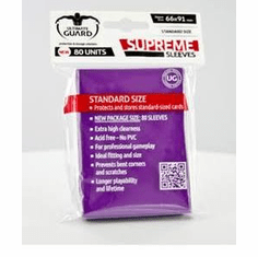 Ultimate Guard Supreme Standard Sized Sleeves - Purple (80 Card Sleeves)