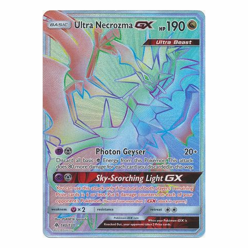 Ultra Necrozma GX 140/131 Hyper Rare - Pokemon Sun & Moon Forbidden Light Card