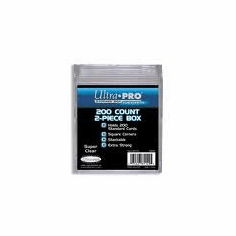 Ultra Pro 200ct Card Storage Plastic Box