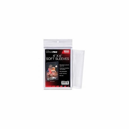 """Ultra Pro 4"""" x 6"""" Soft Sleeves (100-Pack)"""