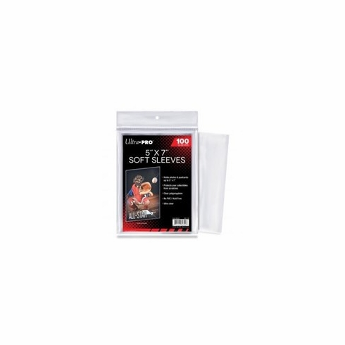 """Ultra Pro 5"""" x 7"""" Soft Sleeves (100-Pack)"""