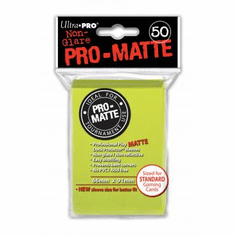 Ultra Pro Pro-Matte Standard Sized Sleeves - Bright Yellow (50 Card Sleeves)