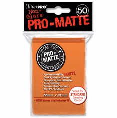 Ultra Pro Pro-Matte Standard Sized Sleeves - Orange (50 Card Sleeves)