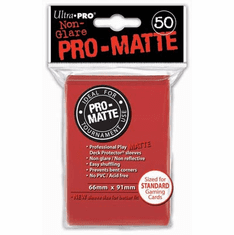 Ultra Pro Pro-Matte Standard Sized Sleeves - Red (50 Card Sleeves)