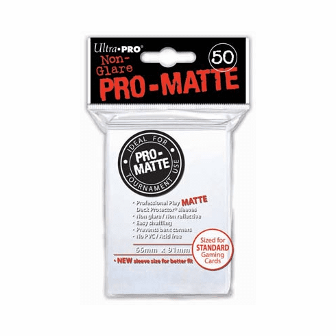 Ultra Pro Pro-Matte Standard Sized Sleeves - White (50 Card Sleeves)