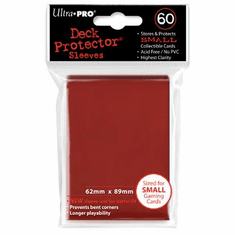 Ultra Pro Small Sized Sleeves - Red (60 Card Sleeves)
