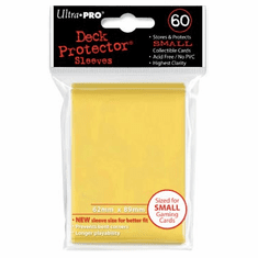 Ultra Pro Small Sized Sleeves - Yellow (60 Card Sleeves)