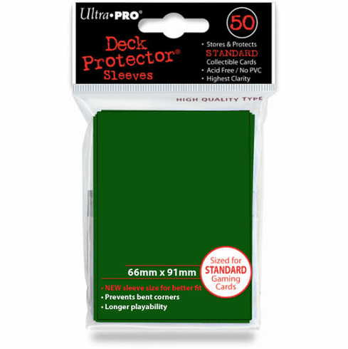 Ultra Pro Standard Sized Sleeves - Green (50 Card Sleeves)