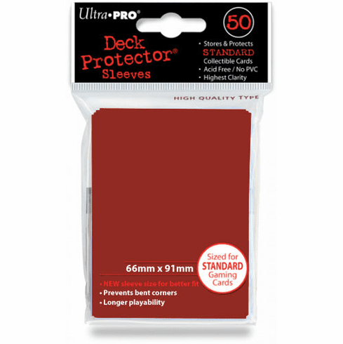 Ultra Pro Standard Sized Sleeves - Red (50 Card Sleeves)