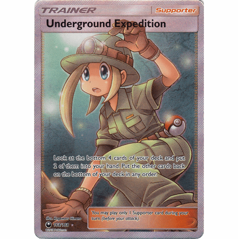 Underground Expedition 168/168 Full Art - Celestial Storm SM7 Pokemon Card