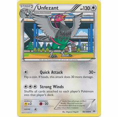 Unfezant 80/108 Uncommon - Pokemon XY Roaring Skies Card