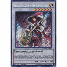 Virgil, Rock Star of the Burning Abyss NECH-EN085 - Secret Rare The New Challengers