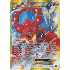 Volcanion EX 115/114 Secret Rare - Pokemon XY Steam Siege Card