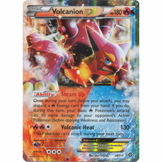 Volcanion EX 26/114 Ultra Rare - Pokemon XY Steam Siege Card