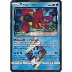 Volcanion�Prism Star 31/131 Holo Rare - Pokemon Sun & Moon Forbidden Light Card