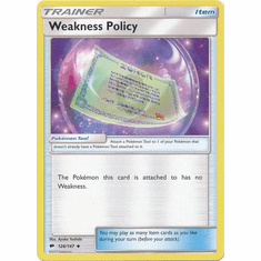 Weakness Policy 126/147 Uncommon - Pokemon Sun & Moon Burning Shadows Card