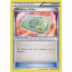 Weakness Policy 142/160 Trainer - XY Primal Clash Single Card