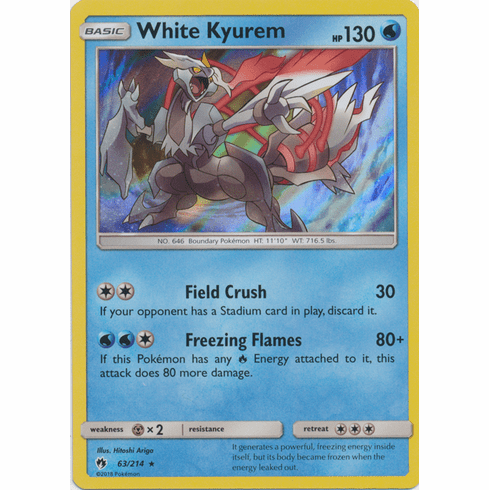 White Kyurem - 63/214 Pokemon » SM Lost Thunder HR