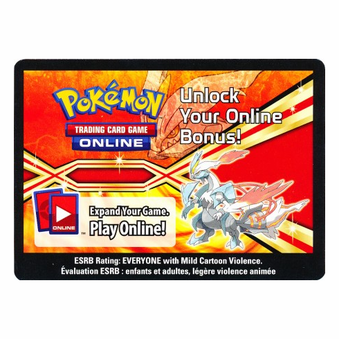 White Kyurem EX Tin Unused Code Card